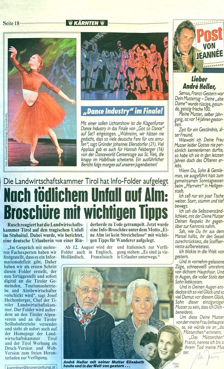 Zeitungsartikel Dance-Industry
