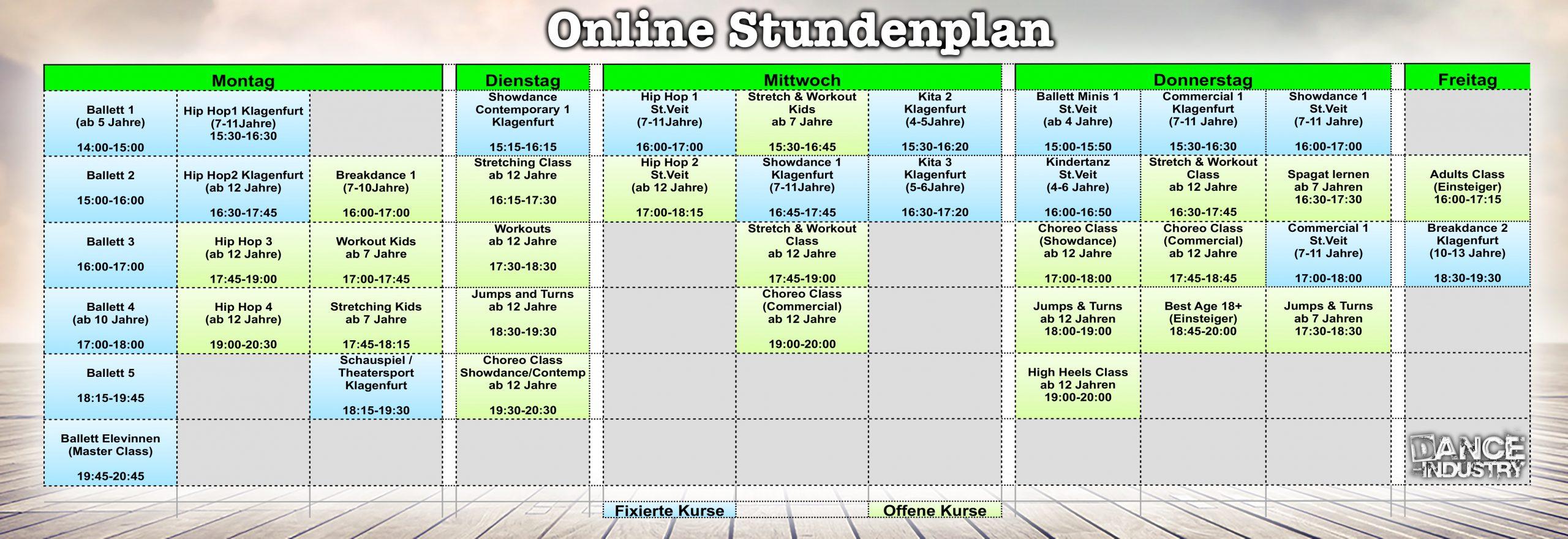 Stundenplan Online